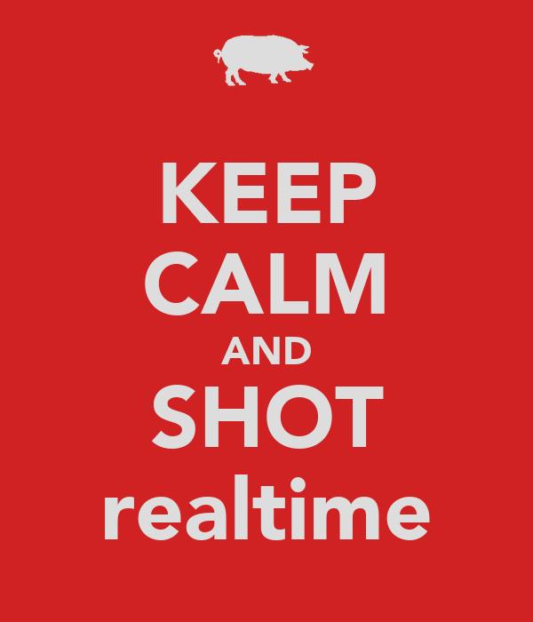 KEEP CALM AND SHOT realtime