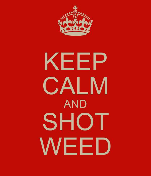 KEEP CALM AND SHOT WEED