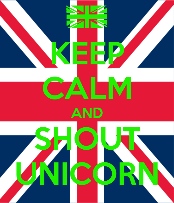 KEEP CALM AND SHOUT UNICORN