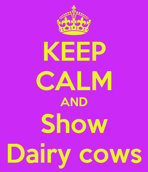 KEEP CALM AND Show Dairy cows