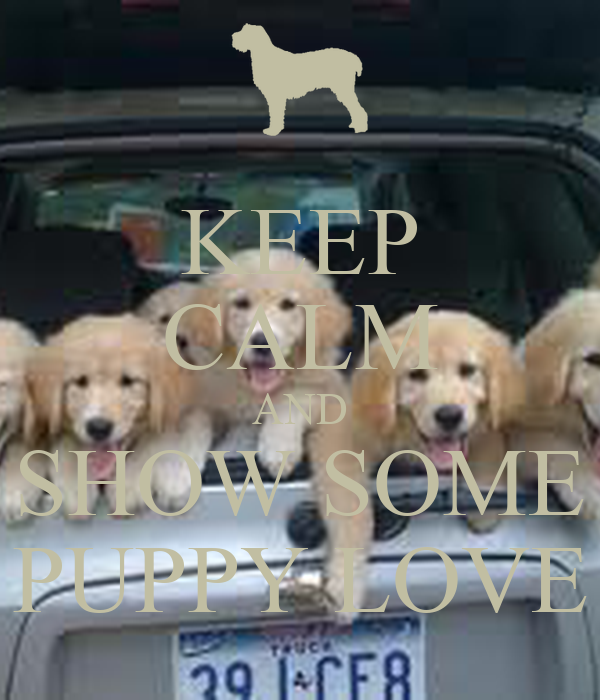 KEEP CALM AND SHOW SOME PUPPY LOVE