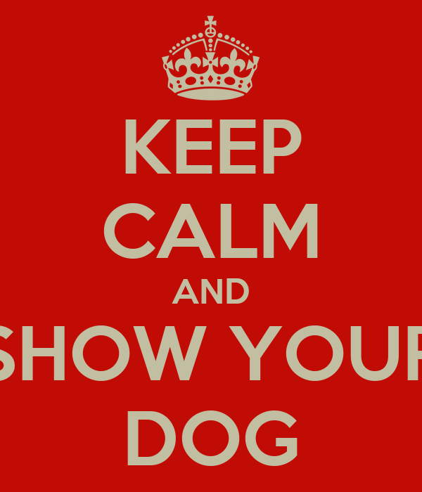 KEEP CALM AND SHOW YOUR DOG