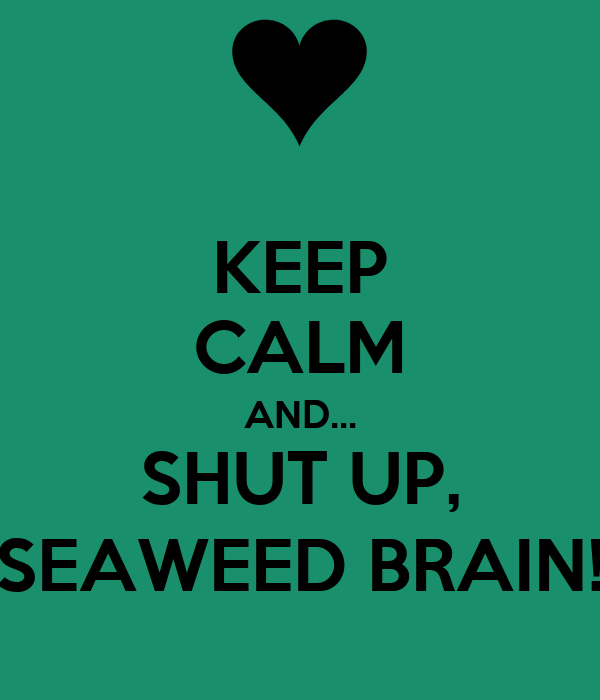 KEEP CALM AND... SHUT UP, SEAWEED BRAIN!