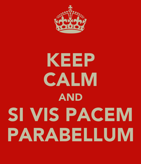 KEEP CALM AND SI VIS PACEM PARABELLUM