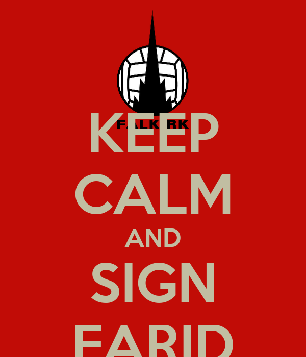 KEEP CALM AND SIGN FARID