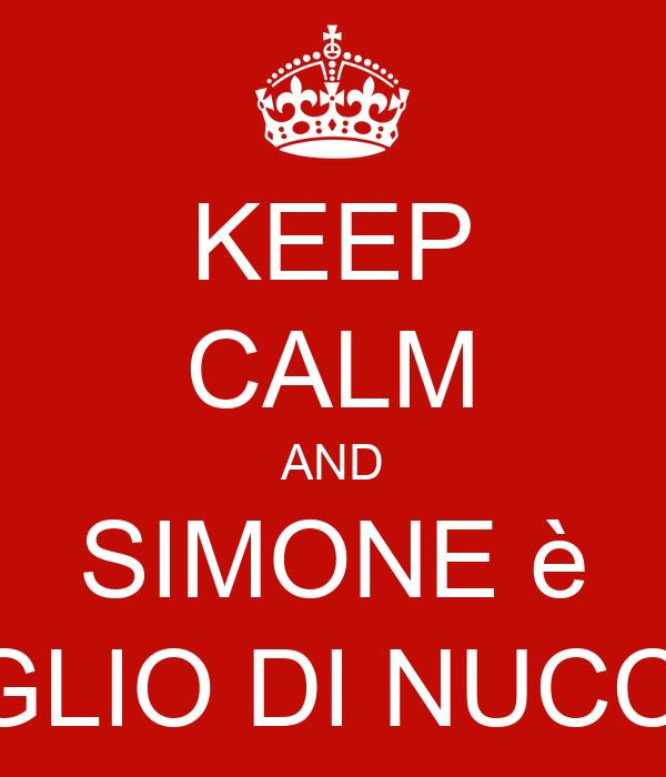 KEEP CALM AND SIMONE è FIGLIO DI NUCCIO