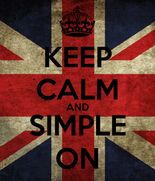 KEEP CALM AND SIMPLE ON