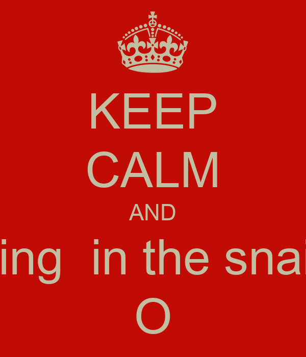 KEEP CALM AND Sing  in the snain O
