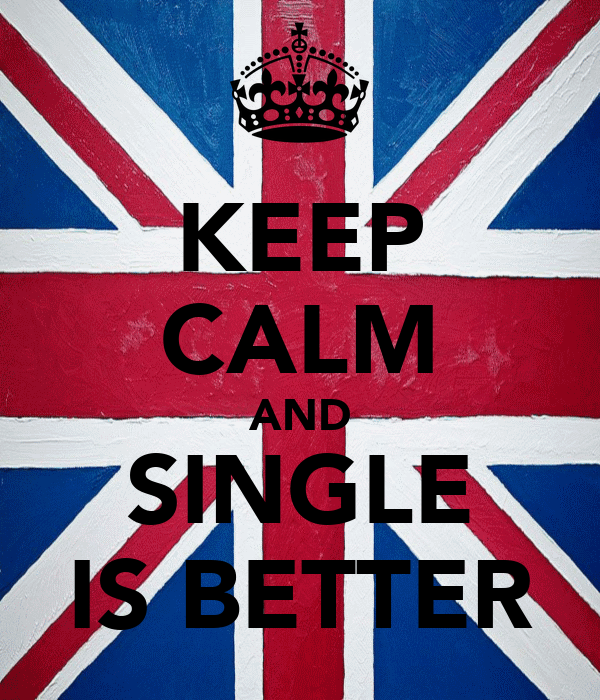 KEEP CALM AND SINGLE IS BETTER
