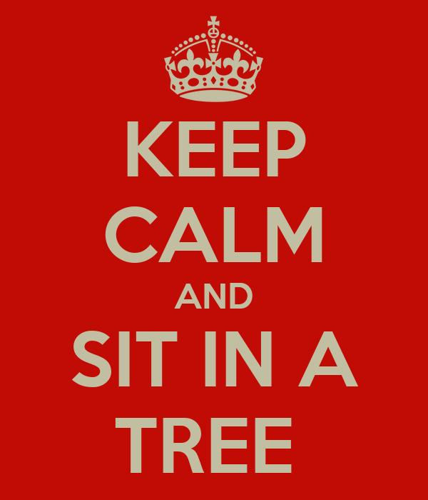 KEEP CALM AND SIT IN A TREE