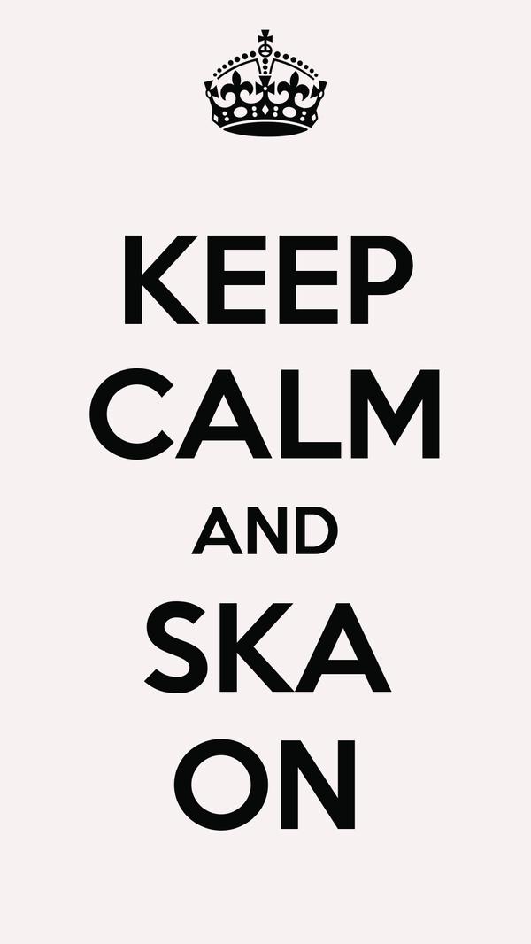 KEEP CALM AND SKA ON