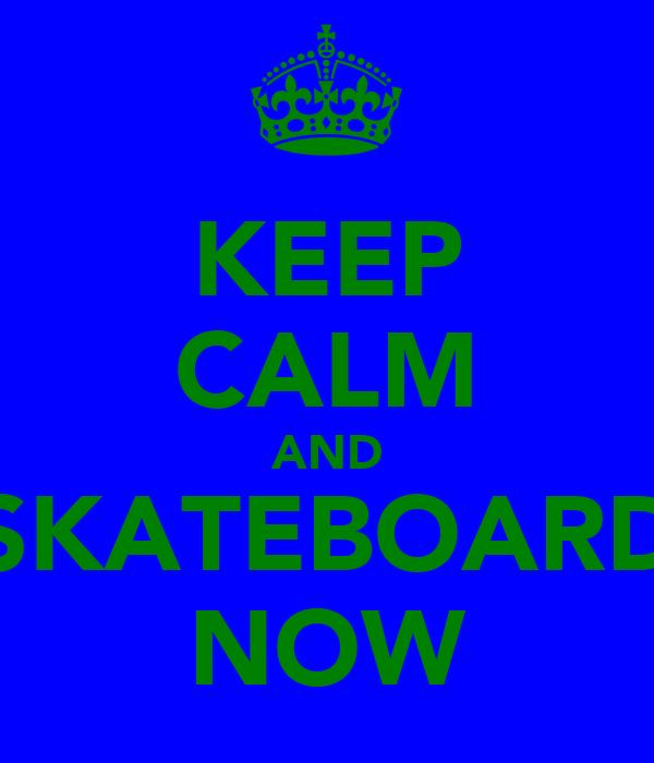 KEEP CALM AND SKATEBOARD NOW