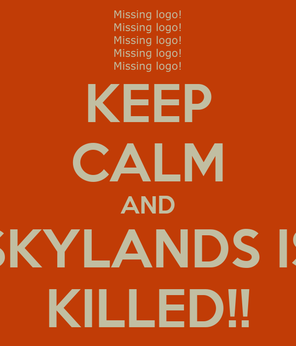 KEEP CALM AND SKYLANDS IS KILLED!!