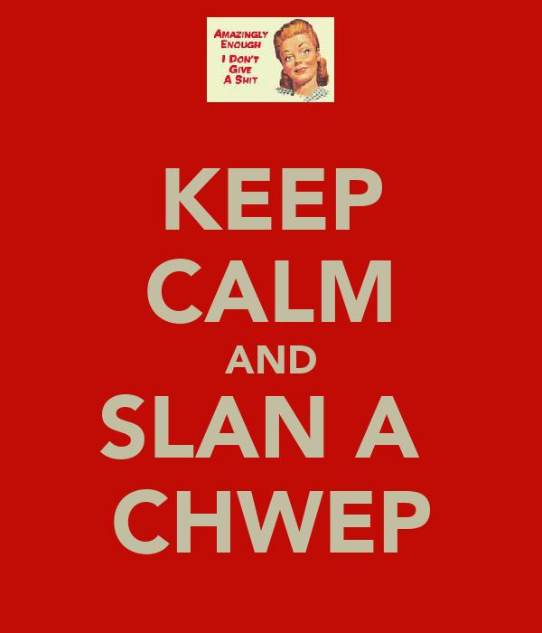 KEEP CALM AND SLAN A  CHWEP