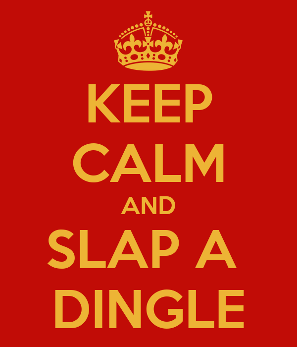 KEEP CALM AND SLAP A  DINGLE