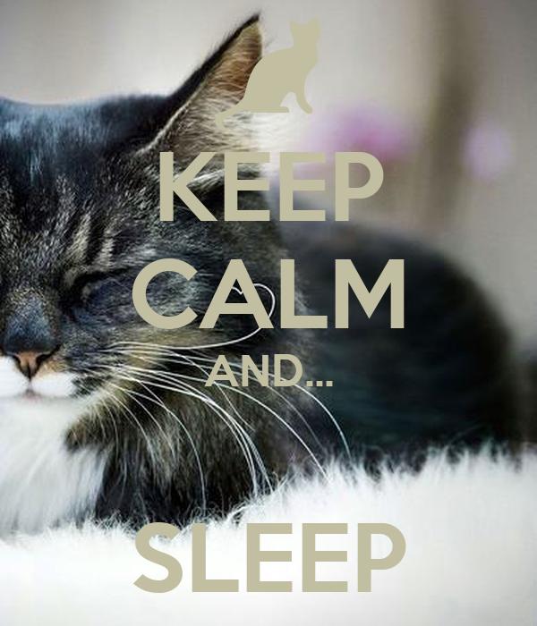 KEEP CALM AND...  SLEEP