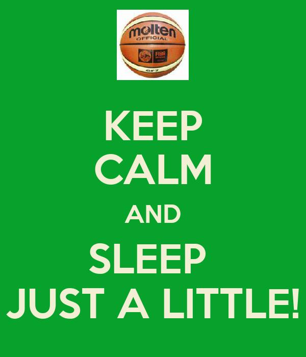 KEEP CALM AND SLEEP  JUST A LITTLE!
