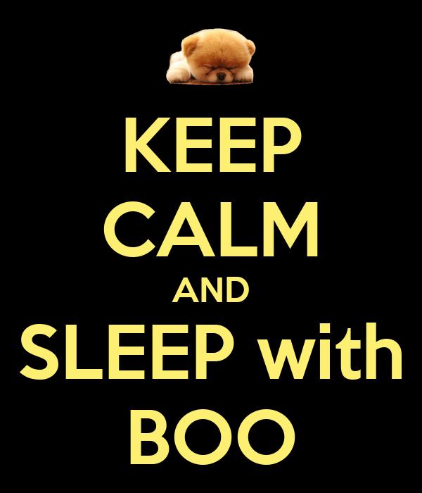 KEEP CALM AND SLEEP with BOO