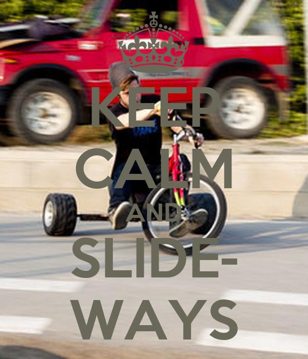 KEEP CALM AND SLIDE- WAYS
