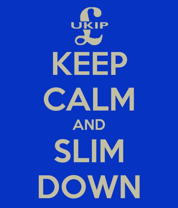 KEEP CALM AND SLIM DOWN