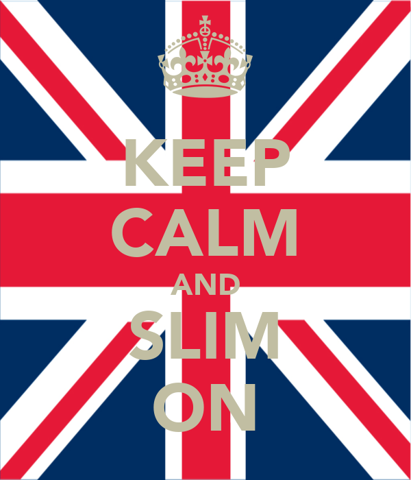 KEEP CALM AND SLIM ON