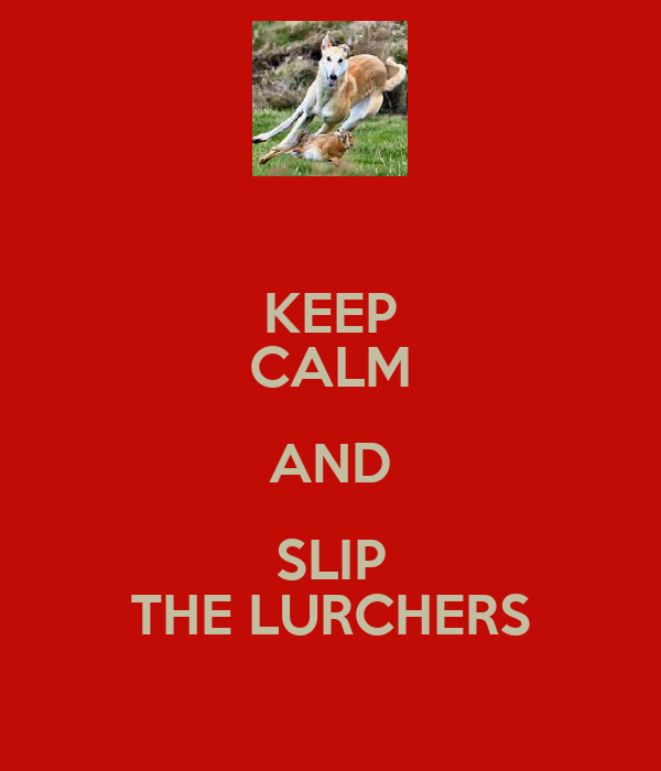 KEEP CALM AND SLIP THE LURCHERS
