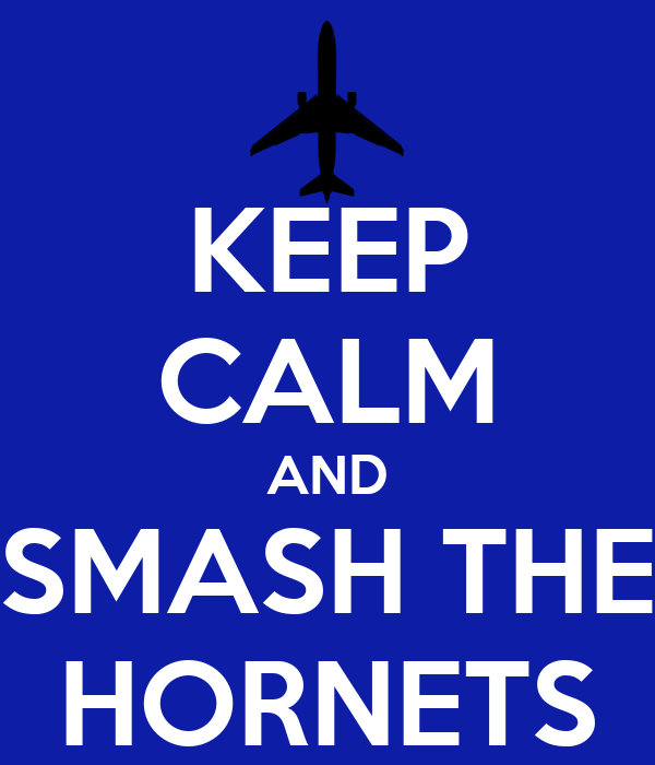 KEEP CALM AND SMASH THE HORNETS