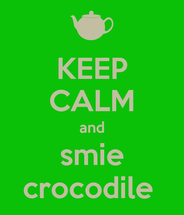 KEEP CALM and smie crocodile