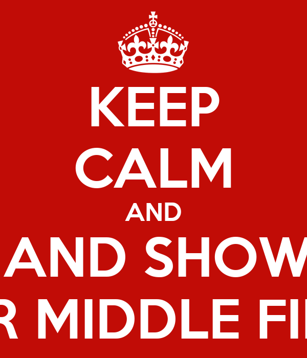 KEEP CALM AND SMILE AND SHOW THEM YOUR MIDDLE FINGER