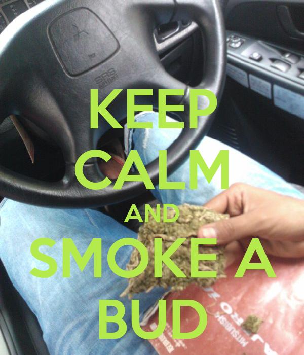 KEEP CALM AND SMOKE A BUD