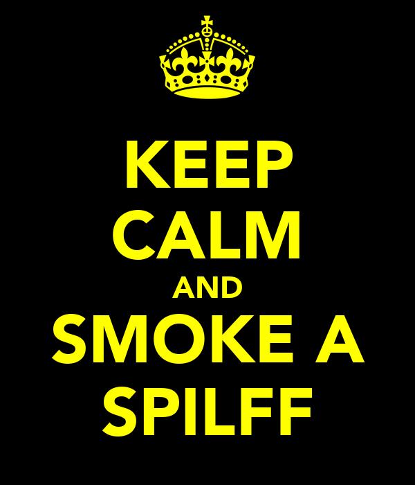 KEEP CALM AND SMOKE A SPILFF