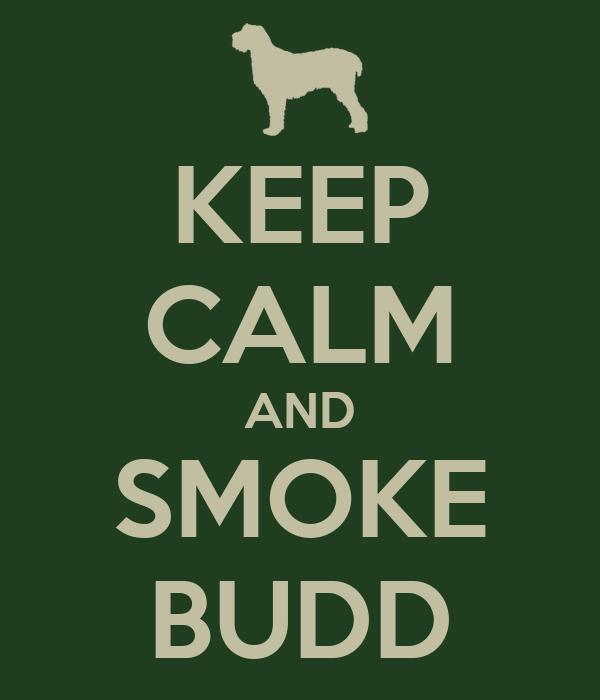 KEEP CALM AND SMOKE BUDD