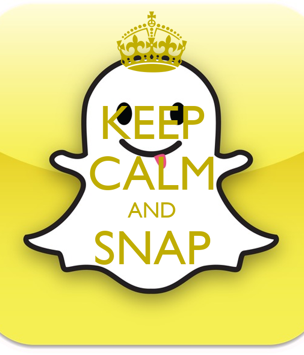 KEEP CALM AND SNAP