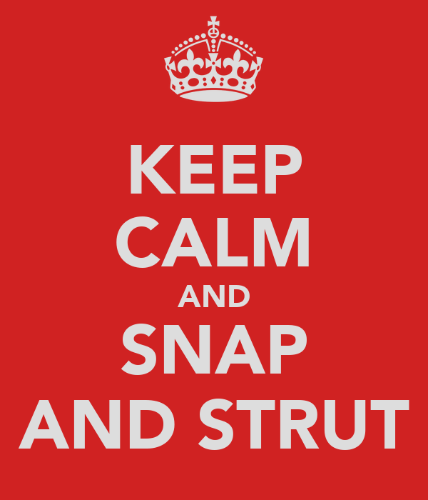 KEEP CALM AND SNAP AND STRUT