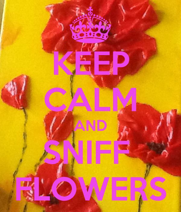 KEEP CALM AND SNIFF  FLOWERS