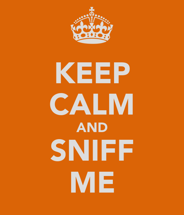 KEEP CALM AND SNIFF ME