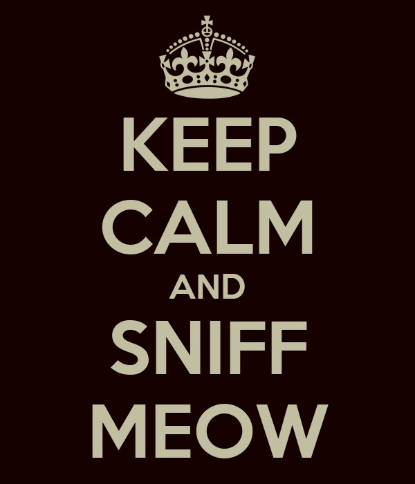KEEP CALM AND SNIFF MEOW