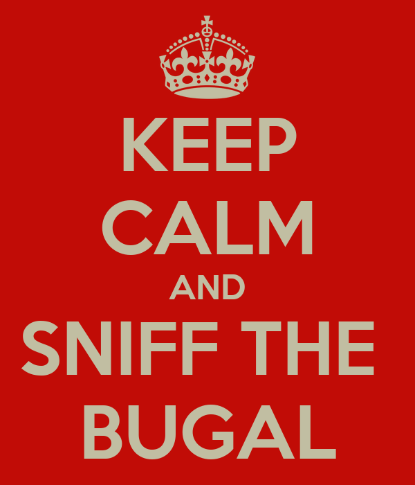 KEEP CALM AND SNIFF THE  BUGAL