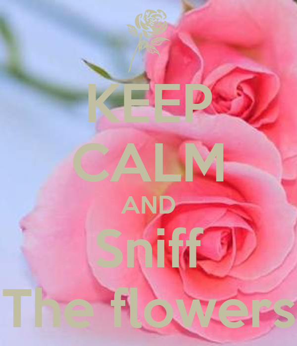 KEEP CALM AND Sniff The flowers