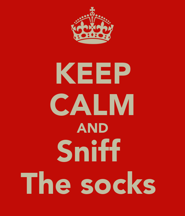 KEEP CALM AND Sniff  The socks