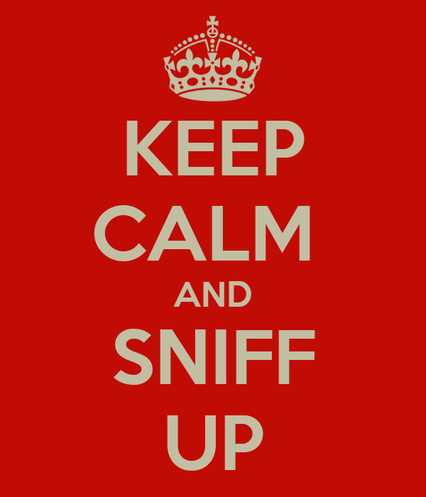 KEEP CALM  AND SNIFF UP