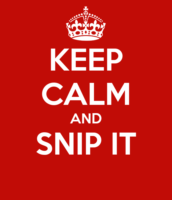 KEEP CALM AND SNIP IT