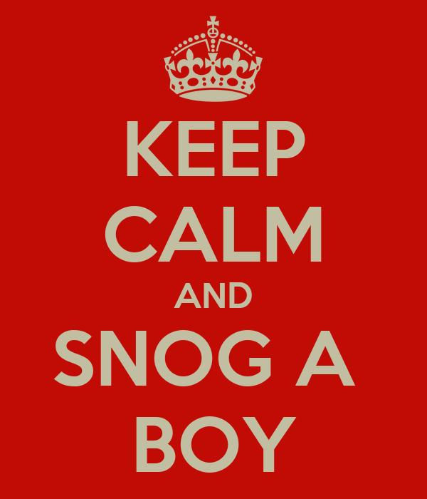 KEEP CALM AND SNOG A  BOY