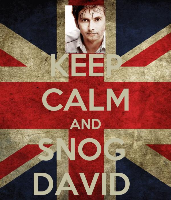 KEEP CALM AND SNOG  DAVID