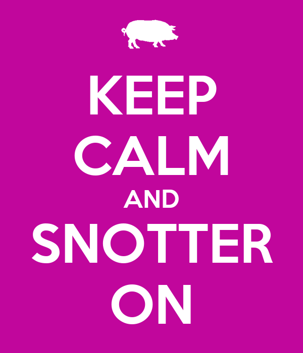 KEEP CALM AND SNOTTER ON