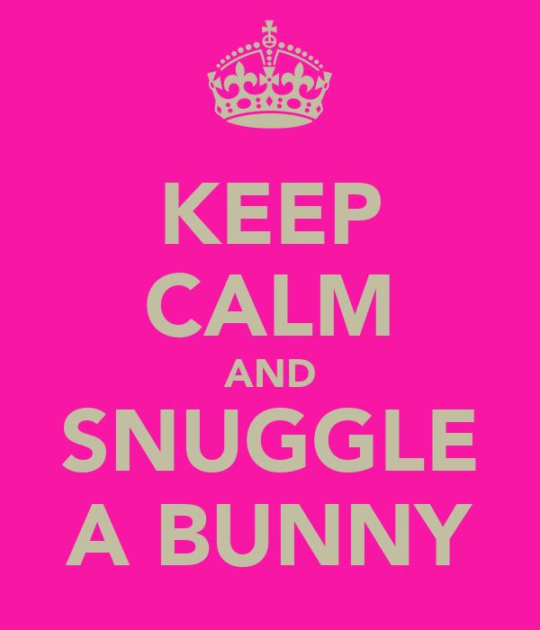 KEEP CALM AND SNUGGLE A BUNNY