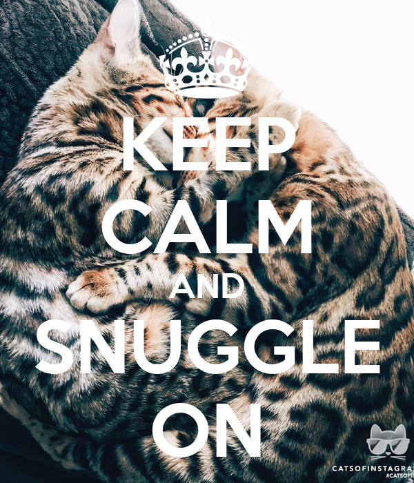 KEEP CALM AND SNUGGLE ON