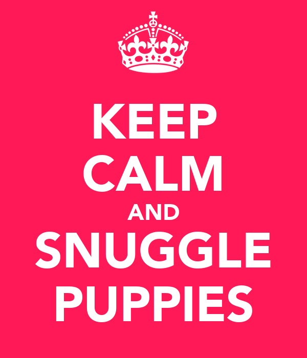 KEEP CALM AND SNUGGLE PUPPIES