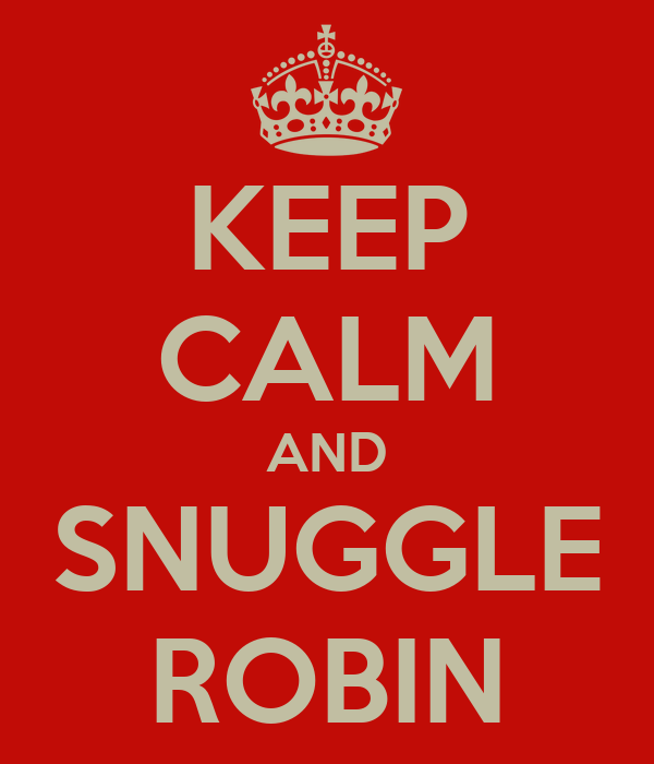 KEEP CALM AND SNUGGLE ROBIN