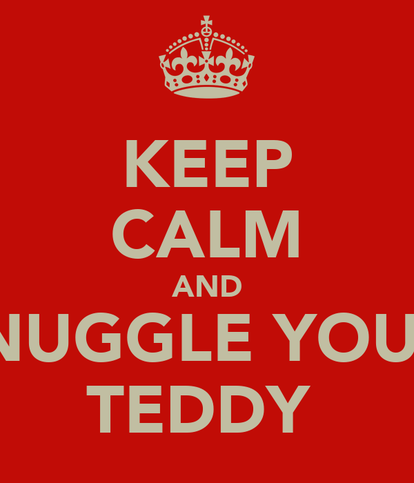 KEEP CALM AND SNUGGLE YOUR  TEDDY
